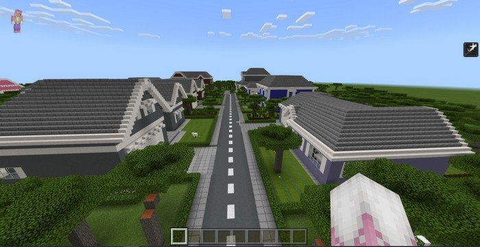 School in Town map for Minecraft PE 1.11.4