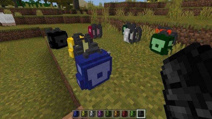 Vanilla Backpacks addon for Minecraft PE 1.11.4