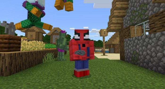 Spider-man addon for Minecraft PE 1.12.0