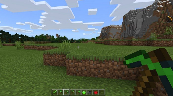 Emerald Items addon for Minecraft PE 1.12.0