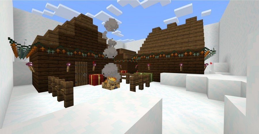 Find the Button: Christmas map for Minecraft 1.13.1