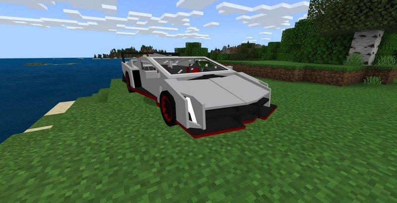 Sports Car mod for Minecraft PE 1 16 20